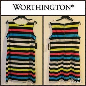Worthington Multi-Colored Sheath Dress